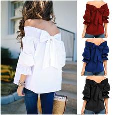blouse, Summer, strapless, Fashion