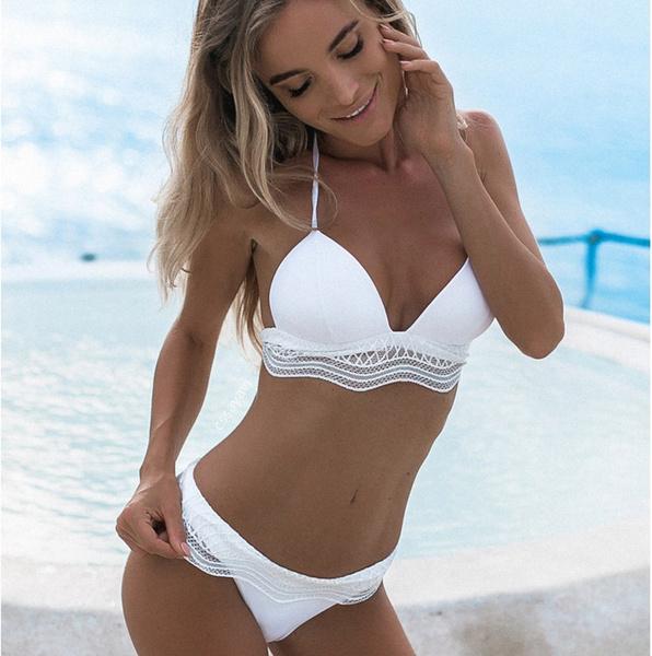 bathing suit, Plus Size, bikini set, Lace Bikini