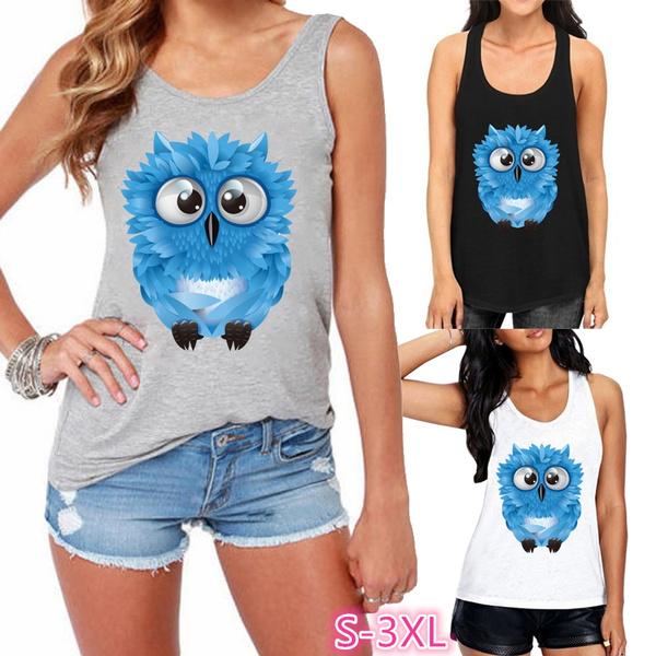 Owl, Vest, Plus Size, Tank