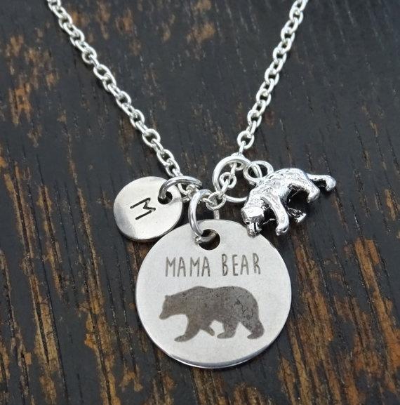 Mama bear necklace Mama bear bar necklace \u2022 Mother/'s Day Gift \u2022 Necklace for Mom \u2022  Mama bear necklace \u2022 Bar necklace \u2022 Engraved necklace