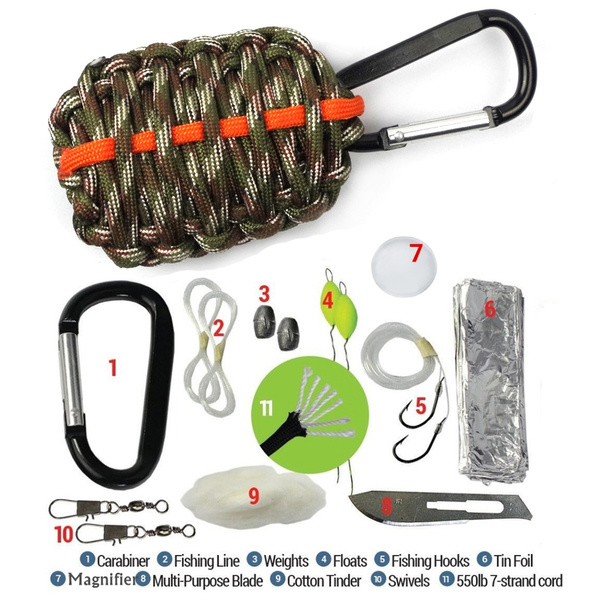 fishingbaitkit, paracordsurvivalemergencykit, Survival, 550paracord