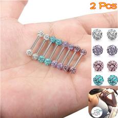Steel, nipplejewelery, DIAMOND, Stainless Steel