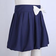 bowknot, School, Shorts, minishortskirt