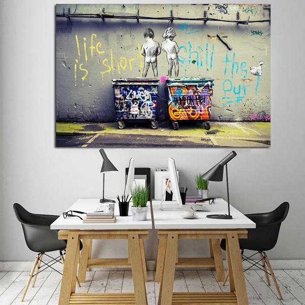 oilpaintingpint, Shorts, art, Posters
