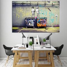 oilpaintingpint, Shorts, art, canvasposter