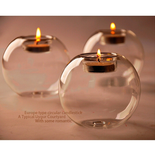 glasscandleholder, decoration, Romantic, Home & Living