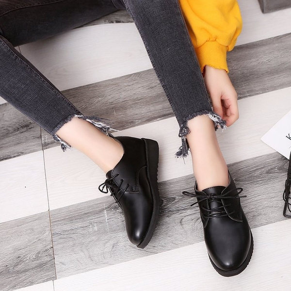 Flats British Style Oxford Shoes Women