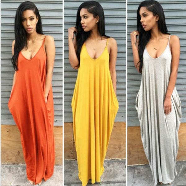 Sleeveless dress, vest dress, Necks, sundress