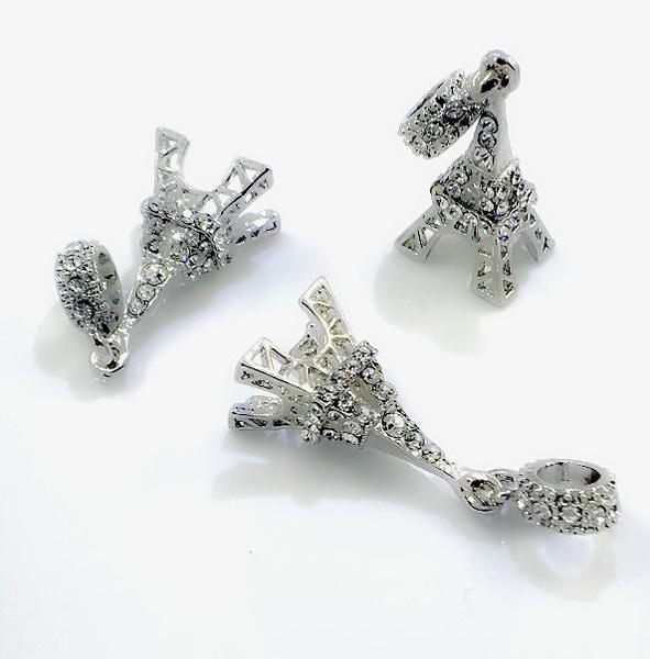 charmsfitbracelet, European And American Fashion, Eiffel Tower, beadsampjewelrymaking