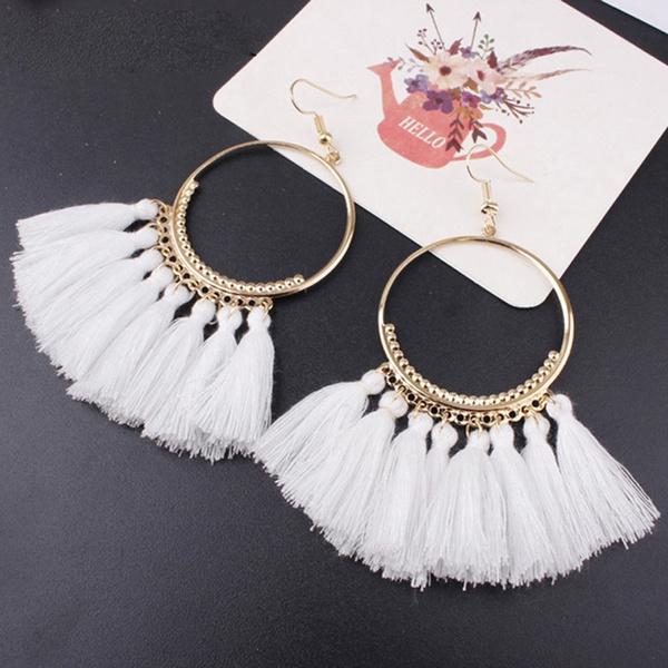 Himmeli Inspired Earrings Boho Floral Earrings Boho Chic Earrings Red and Gold Ethnic Earrings Geometric Earrings Golden Earrings