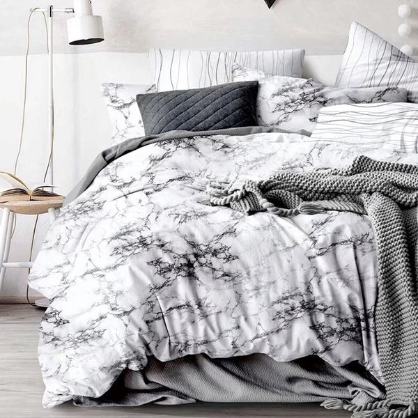 Chic Marble Comforters Us Uk Queen King, Marble Queen Bedding