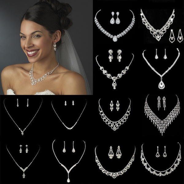 engagementampweddingjewelryset, Choker, Necklace, Women's Fashion