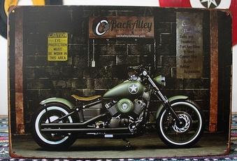 Decor, Harley Davidson, Metal, tinsign
