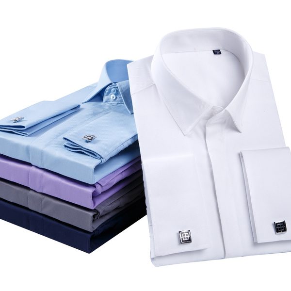 Shirt, mens dress shirts with french cuffs, Classics, Dress