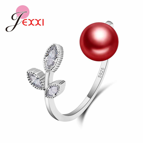 Cubic Zirconia, Sterling, Fashion, leaf
