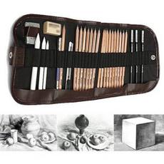 pencil, drawingpencilset, art, Charcoal