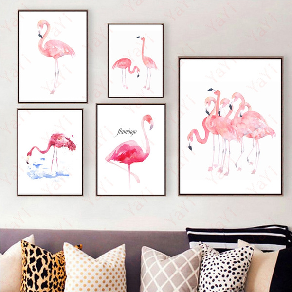 Home & Kitchen, flamingo, art, canvaspainting