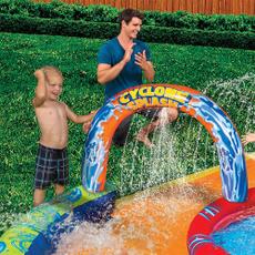 inflatablepoolpark, sprinklingslide, aqua, slipnslide