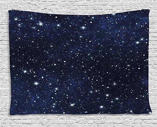 Blues, Dark, blanketstapestry, Star