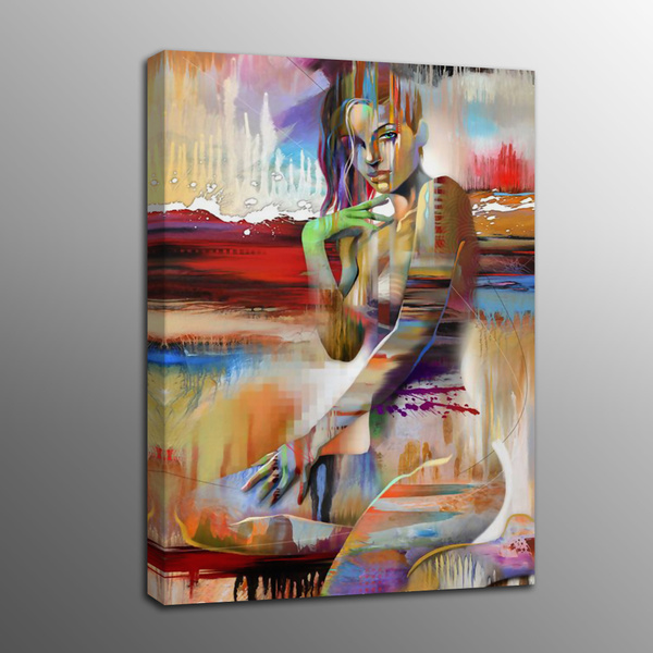 Wall Art Oil Painting Picture Canvas Prints Human Body Art Beautiful Dancer Canvas Painting Art Poster For Living Room Frame No Wish