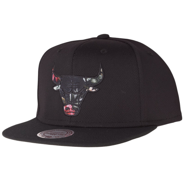 FLORAL INFILL Chicago Bulls Mitchell /& Ness Snapback Cap