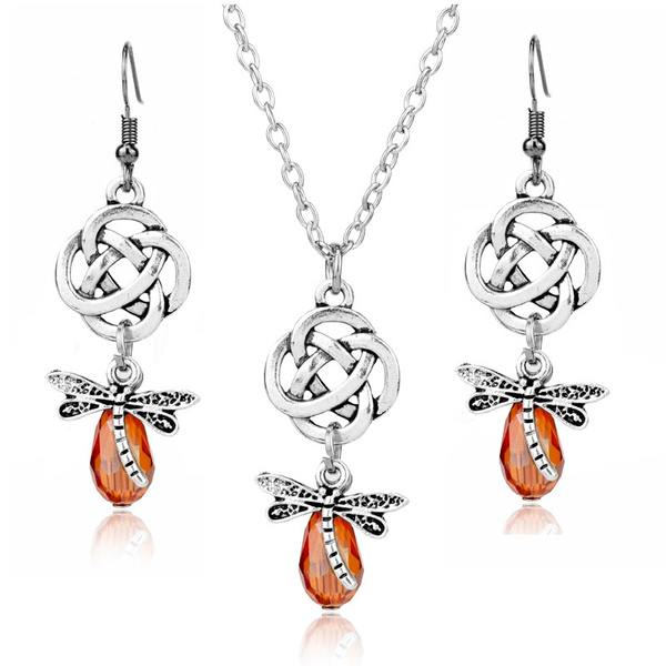 World Wide shipping Outlander jewellery Summertime Necklace Butterfly  moth necklace and earring set