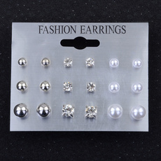 Sterling, Stud, Pearl Earrings, Stud Earring