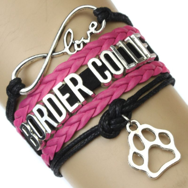Charm Bracelet, infinity bracelet, bordercolliebracelet, Women's Fashion & Accessories