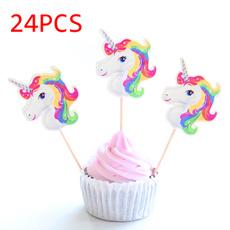 Decor, caketopper, unicorn, bakingdecorating