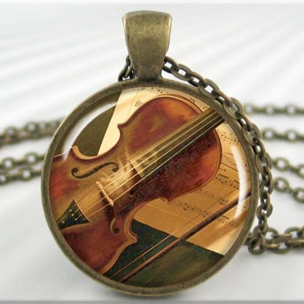 art, violinnecklace, Gifts, artnecklace