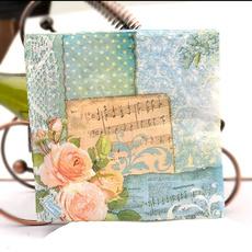 decoupage, Flowers, Colorful, napkin