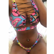 Mujer, Moda, bikini set, Thong