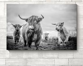 decoration, canvasprint, Wall Art, cow