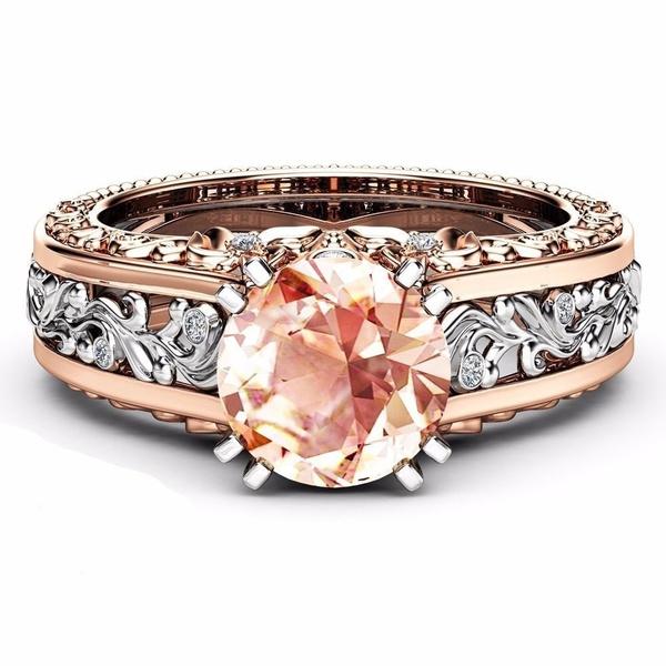 Sterling, Vintage, gold, Engagement Ring