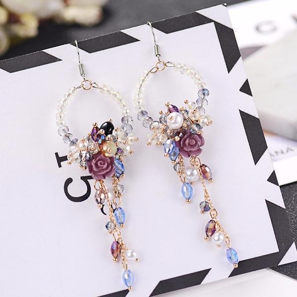 Flowers, Jewelry, pearls, Women jewelry