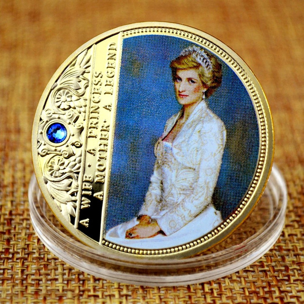 Royal Princess of Wales Diana Commemorative 1oz Gold Layered Coin Rose O England