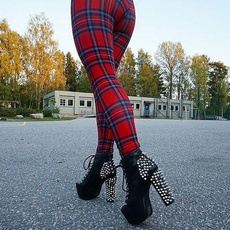 Leggings, Plus Size, pants, tartanredtoastieslegging