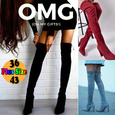 Knee High Boots, platformheel, thighhighboot, slim