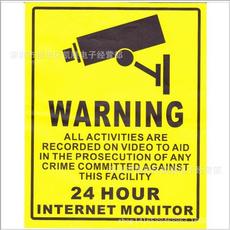 warningsign, warningsticker, Camera, Wall Decal