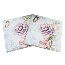 butterfly, kerchief, Flowers, camelliaprint