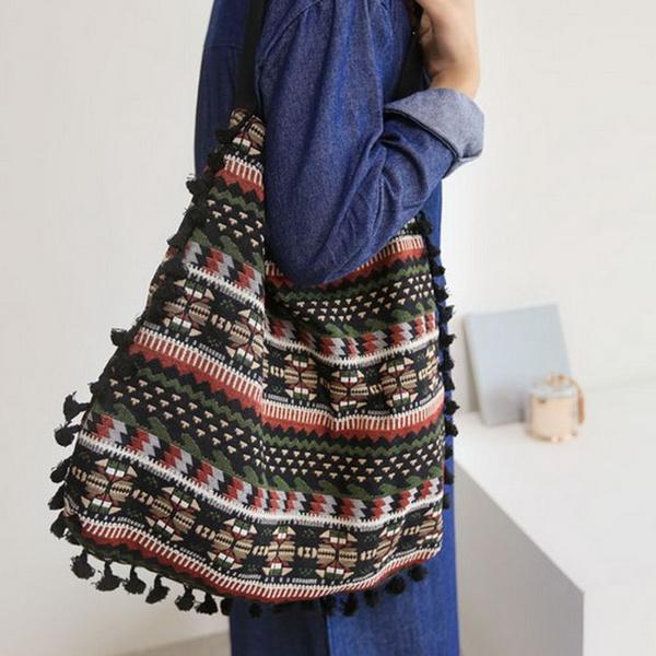 Fashion women's handbags, Knitting, School Bag, gypsy