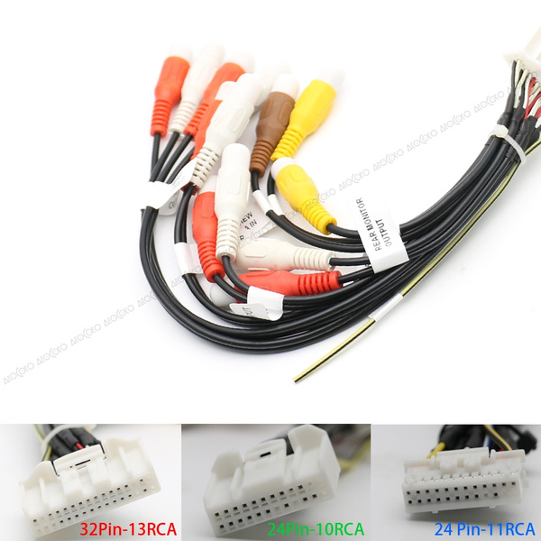 [DIAGRAM_34OR]  24/32 Pin Car Radio Wire Harness Adapter RCA Cable for Pioneer AVIC F940BT  F30BT F900BT F90BT X850BT Z150BH | Wish | Pioneer Car Stereo Wiring Harness Rca |  | Wish