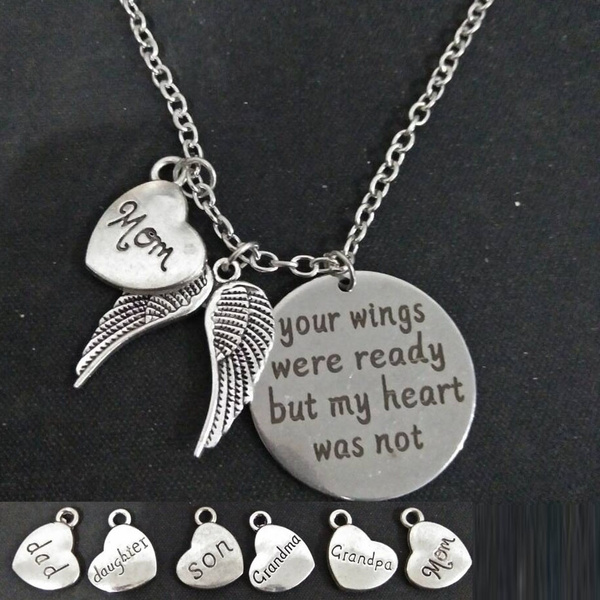 Gift For Daughter. Dad Memorial Necklace