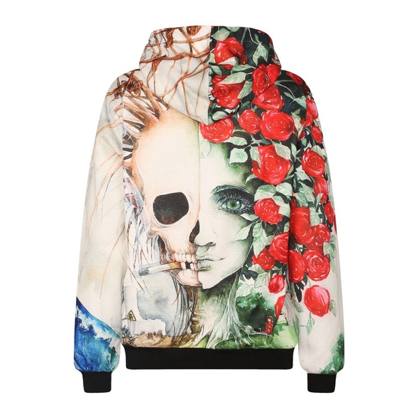 Fashion, Floral print, Skeleton, Beauty