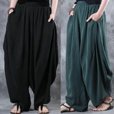 baggypant, harem, elastic waist, high waist