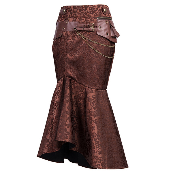 highwaistleatherbelt, brown, long skirt, Fashion