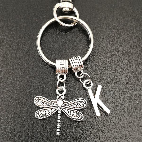 monogram, dragon fly, keyringkeychain, Jewelry