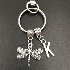 monogram, dragon fly, keyringkeychain, Jewelry