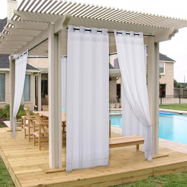 1 Panel Outdoor Waterproof Curtain Soft, Outdoor Waterproof Curtains Patio