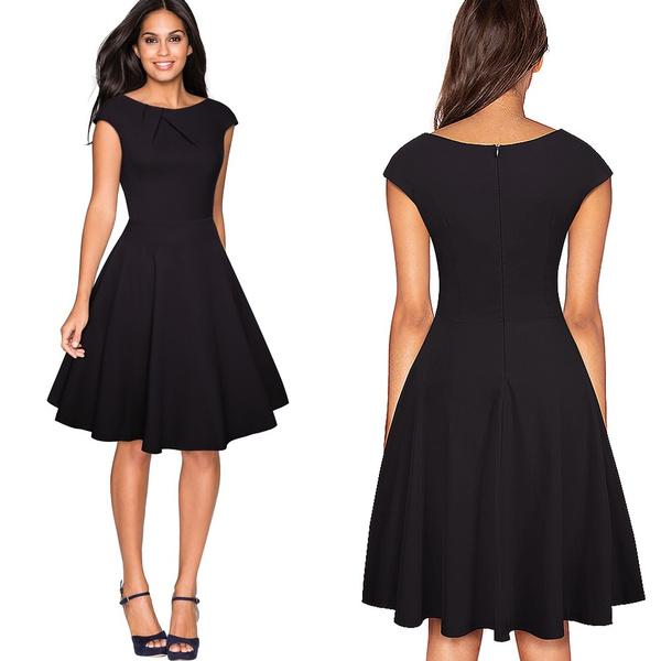Swing dress, pencil dress, office dress, Vintage